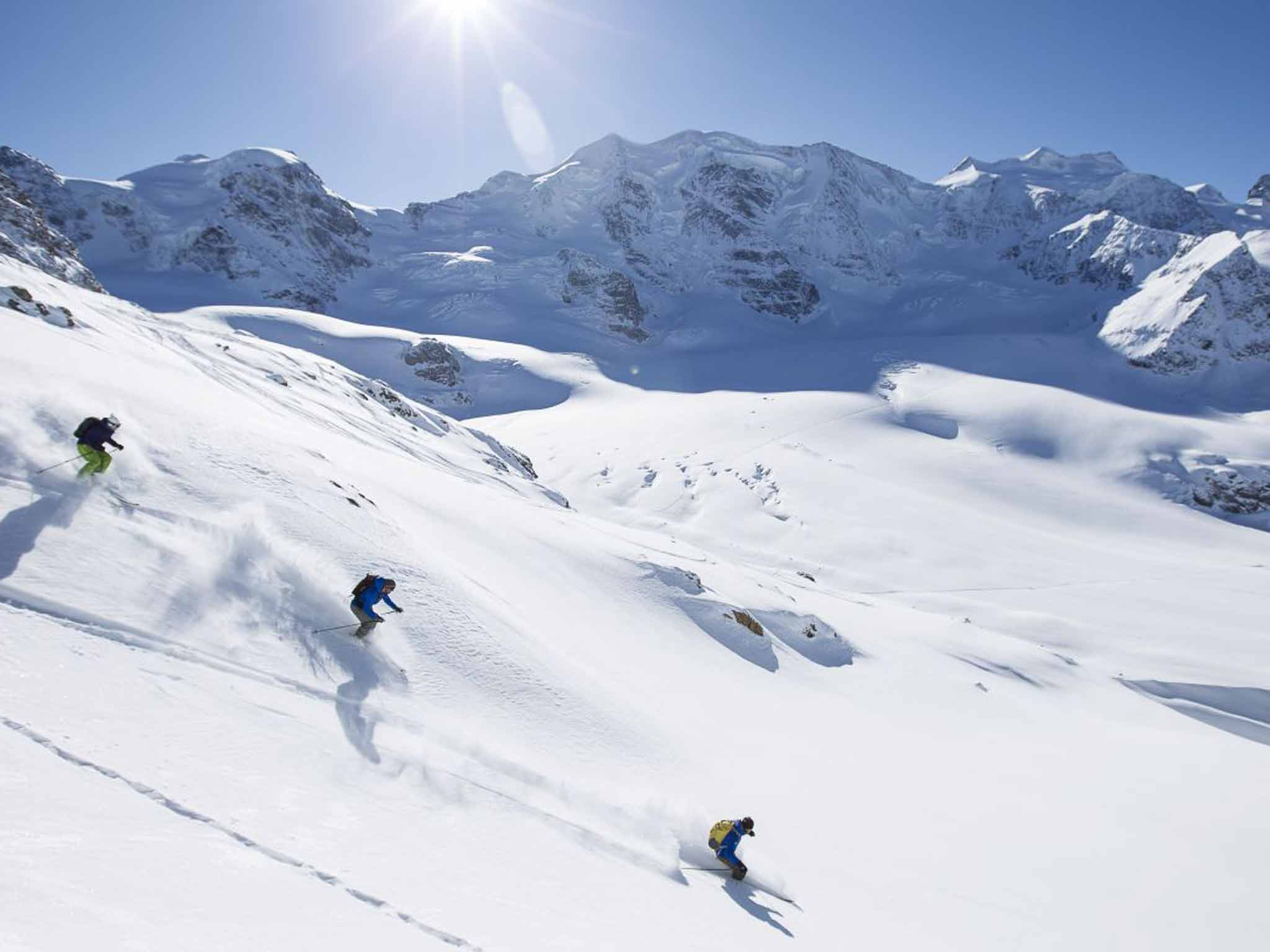 Top Five Ski Slopes of Switzerland