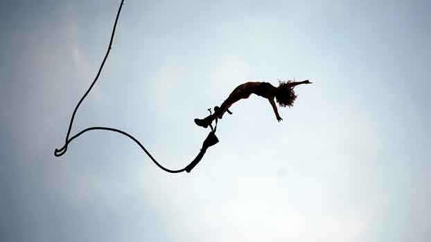 Bungee Jumping. High doses of adrenaline
