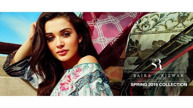 Saira Rizwan Spring Lawn 2016 Feat. Bollywood Actress Amy Jackson