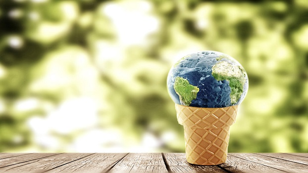 Around the globe with an ice cream bowl!