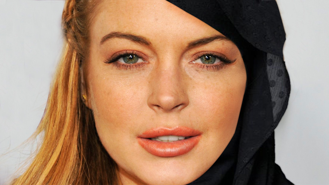 Calm down because Lindsay Lohan hasn't converted to Islam!