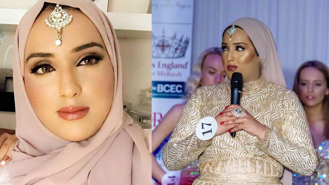 Britians first hijab wearing Muslim to compete in Miss England