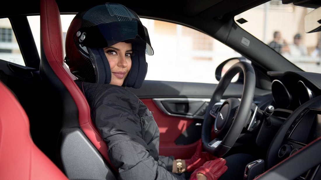 Saudi woman drives Formula1 car to mark an end of ban