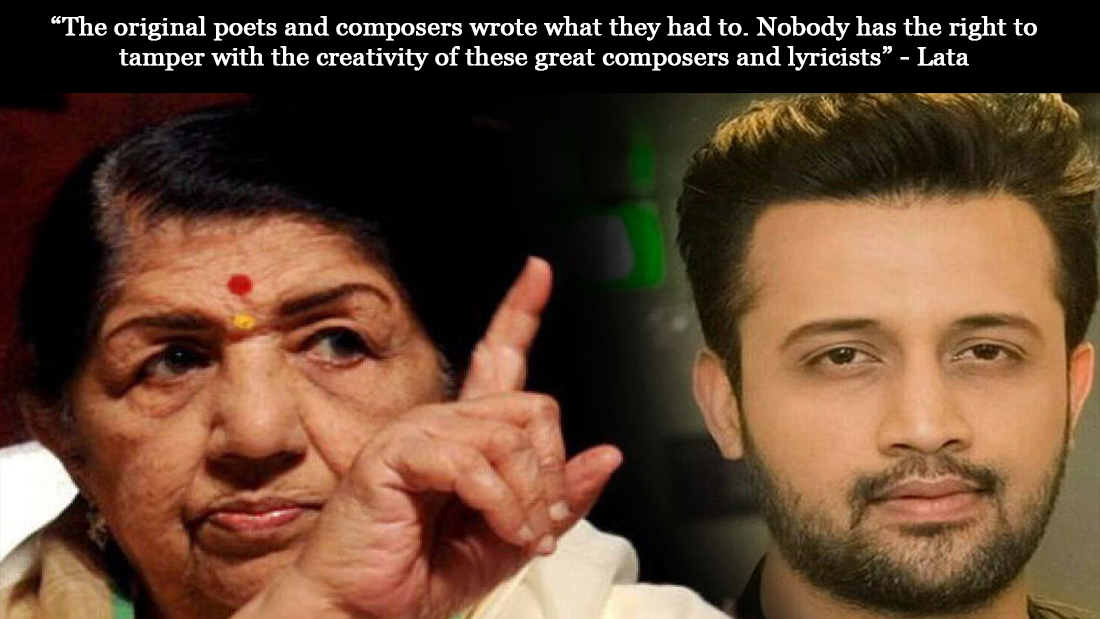 Lata Mangeshkar  says she does not want to hear Atif Aslam's version of Chalte Chalte
